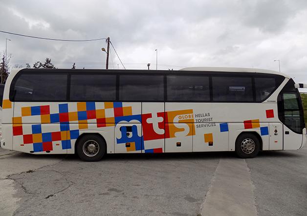 αυτοκόλλητα σε λεωφορείο