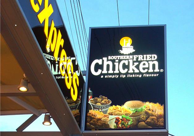 φωτεινή επιγραφή εστιατορίου plexiglass