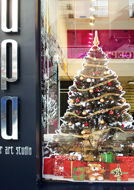 Christmas Stickers / Χριστουγεννιάτικα αυτοκόλλητα βιτρίνας