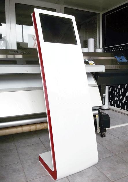 Stand plexiglass, Οθόνη Προσαρμοσμένη