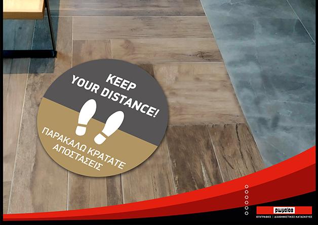 floor stickers covid-19