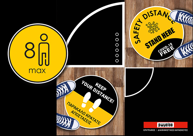 floor stickers covid protection